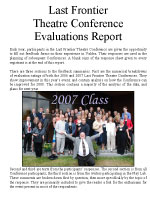 2007 Evaluations Report