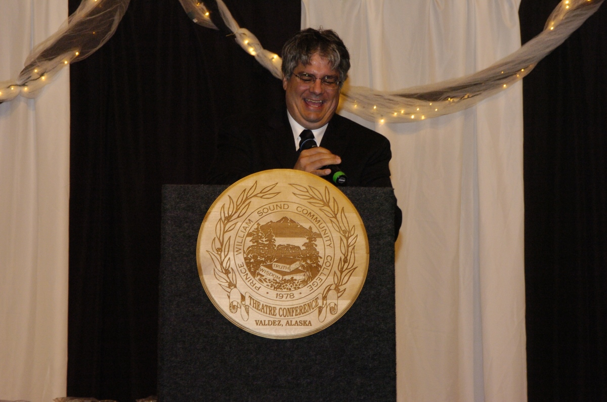 Jim Cucurull accepts Jerry Harper Service Award 2008